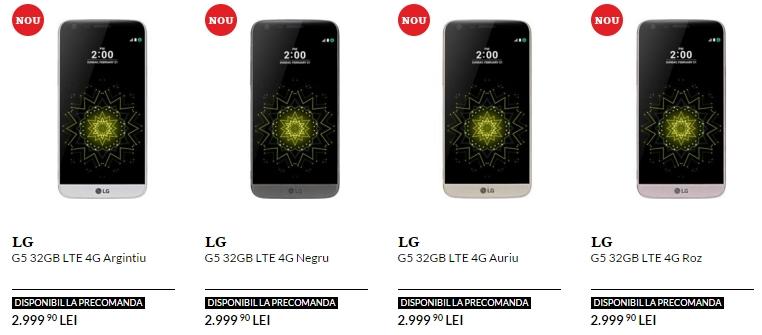 Pret LG G5 in Romania