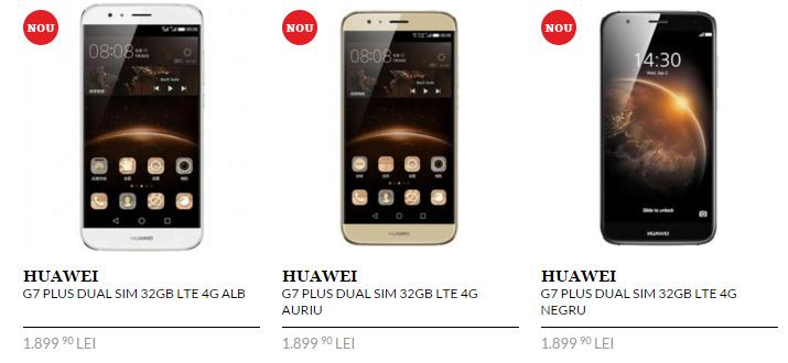 Huawei G7 Plus este listat în oferta QuickMobile