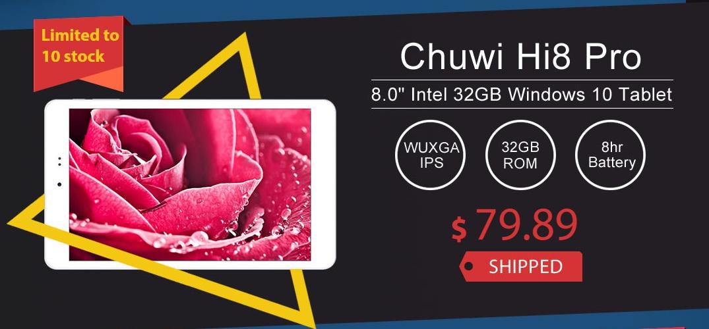 Chuwi Hi8 Pro, dar și alte tablete la fel de atractive, au parte de reduceri speciale prin intermediul unui retailer chinez