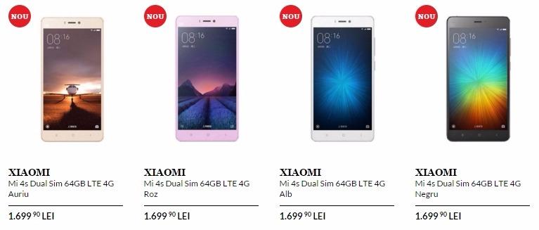 Xiaomi Mi 4s disponibil în oferta QuickMobile.ro la un preț de 1.699 lei; iată ce aduce nou la nivel hardware