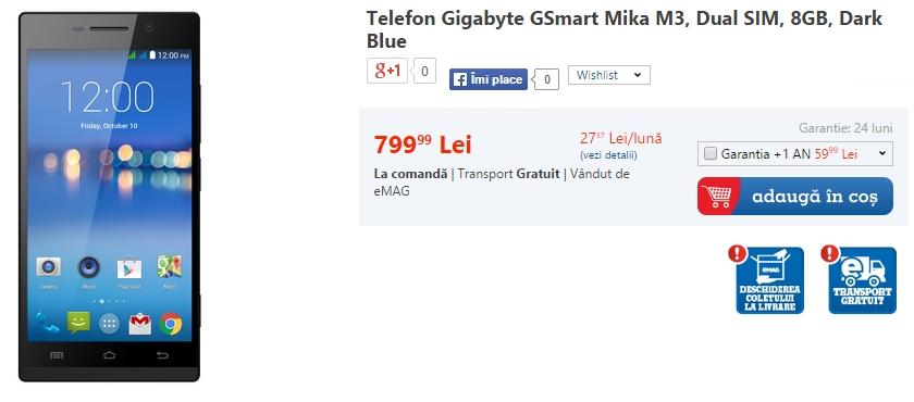 Pret Gigabyte GSmart Mika M3