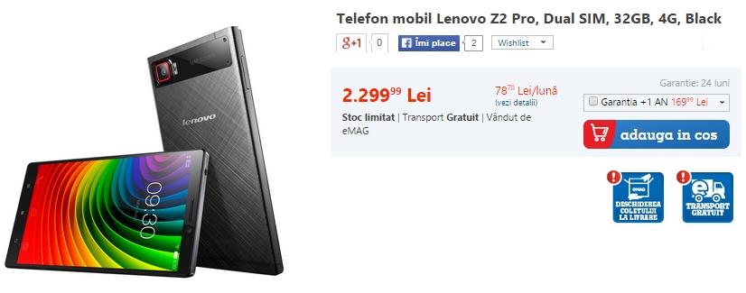 Lenovo Z2 Pro, Dual SIM, 32GB