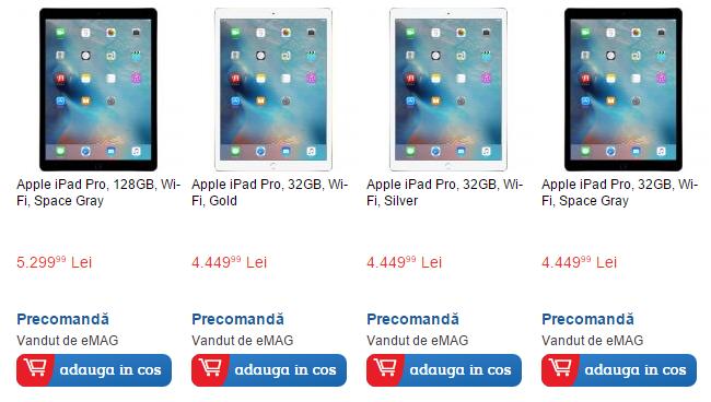 iPad Pro, uriașa tabletă de 12.9 inch este disponibilă la precomandă prin intermediul eMAG.ro