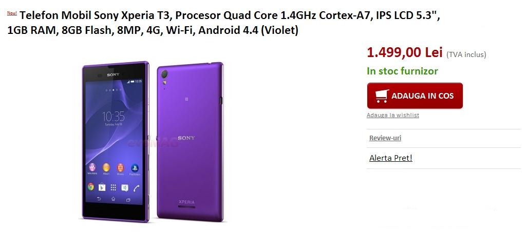 Sony Xperia T3 la evoMAG.ro