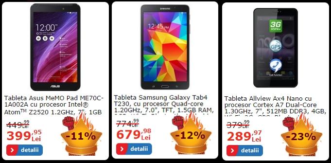 Iată cele mai atractive trei tablete și trei smartphone-uri care Încă se regăsesc la reducere pe eMAG.ro