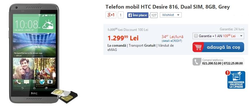 HTC Desire 816 - eMAG