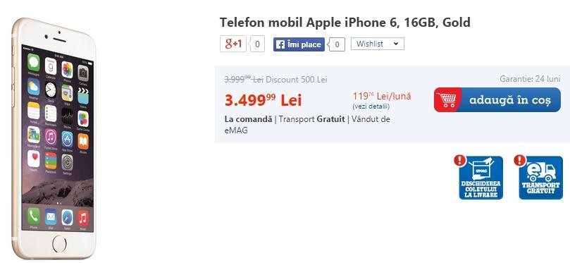 Apple iPhone 6 disponibil acum la pre-comandă și prin intermediul eMAG.ro