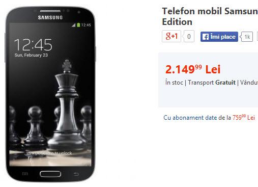 Telefon mobil Samsung I9505 Galaxy S4 4G Black Edition