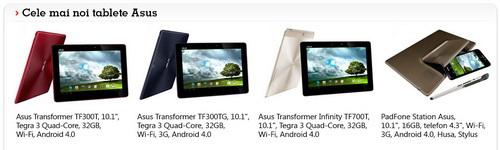 Noul iPad si tabletele Asus