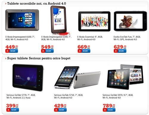 Pe zona de tablete ieftine și cu branding românesc