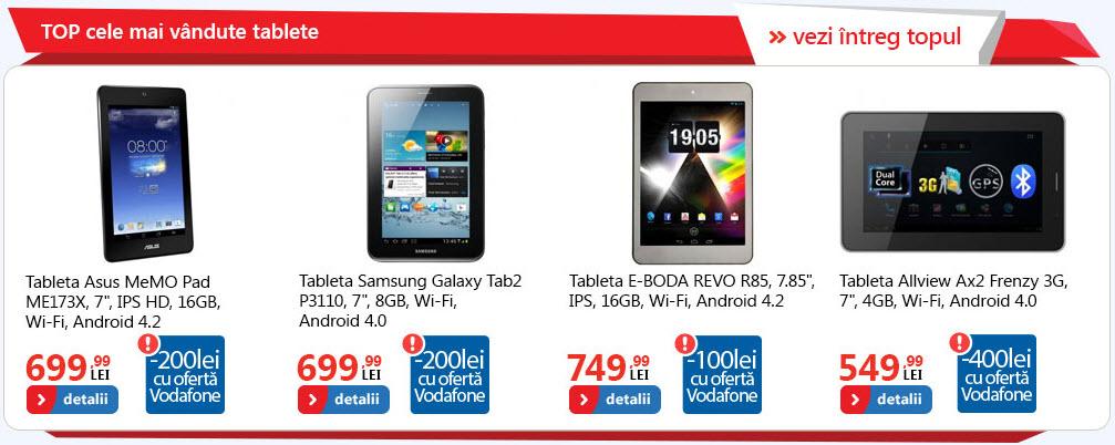 Cele mai vândute produse eMAG.ro primesc reduceri: tablete ASUS și Samsung, telefoane Evolio și Nokia Lumia
