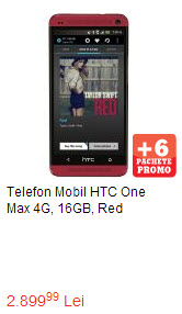 HTC One Max Rosu