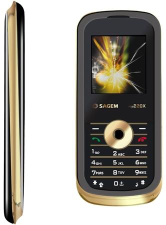 Sagem my220x, telefonul aurit