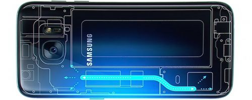 Sistemul de răcire pe bază de lichid de pe Galaxy S7 Edge explicat în disecţia handsetului: nu include lichid propriu zis (Video)
