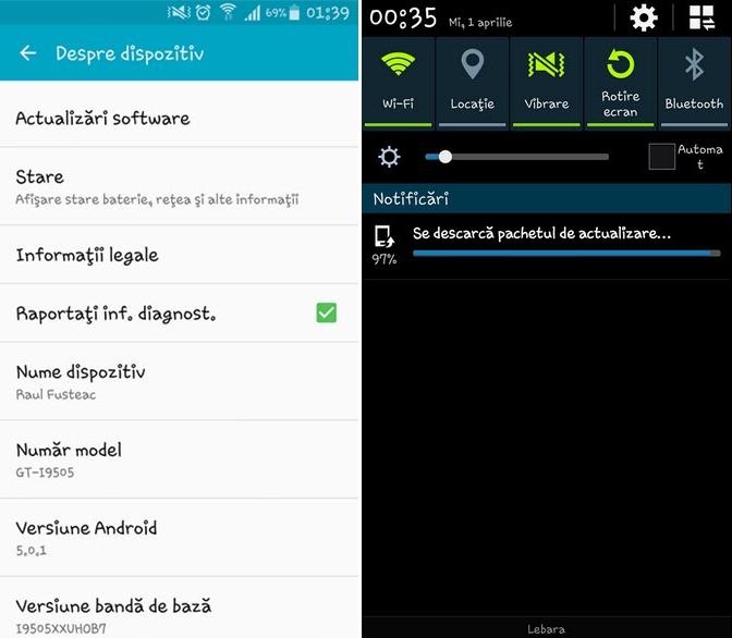 Android 5.0.1 Lollipop sosește pe Samsung Galaxy S4 (i9505) în România