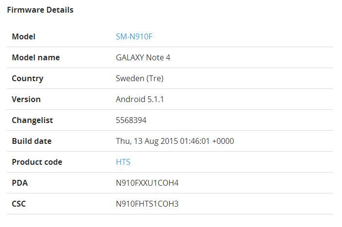 Samsung Galaxy Note 4 începe să primească actualizarea la Android 5.1.1 Lollipop în Europa