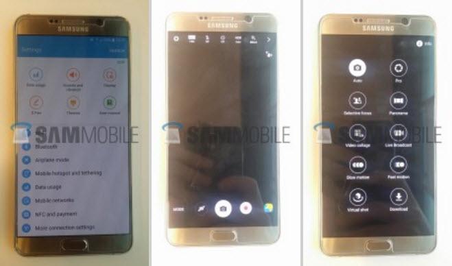 Samsung Galaxy Note 5 fotografiat rulând Android 6.0.1, actualizarea intarzie