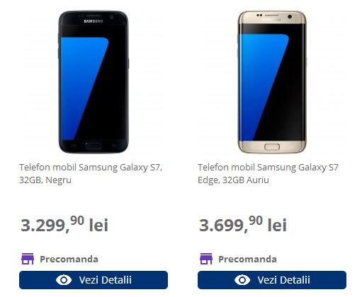 Samsung Galaxy S7 şi Galaxy S7 Edge vin cu o ofertă specială de precomandă la Flanco şi Vodafone România: Gear VR la pachet