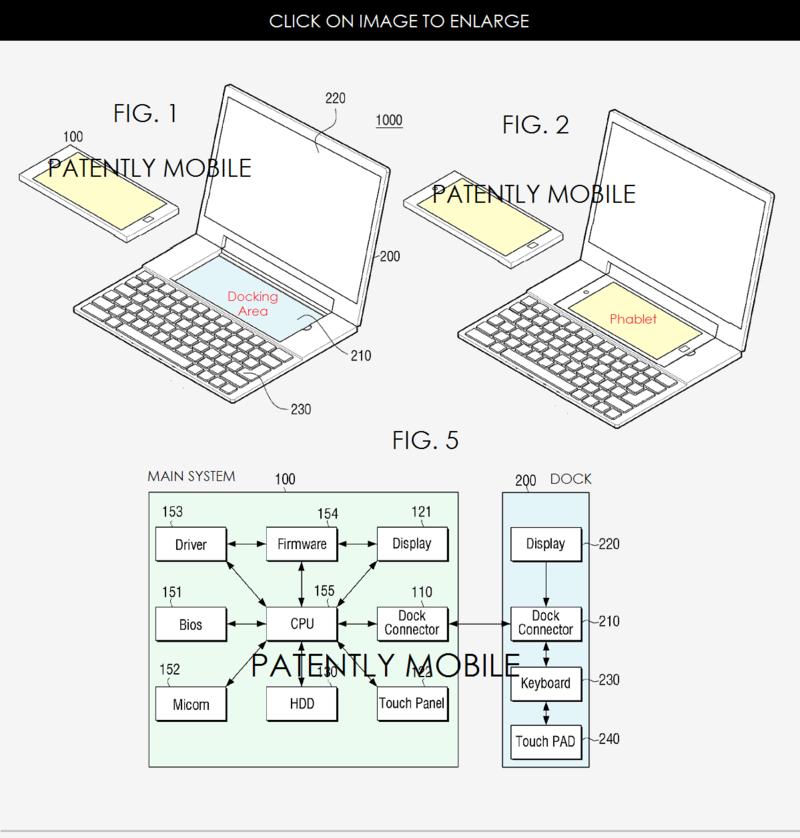 Samsung brevetează un dock pentru phableturi şi un notebook dual OS; Posibile indicii despre Galaxy Note 6?