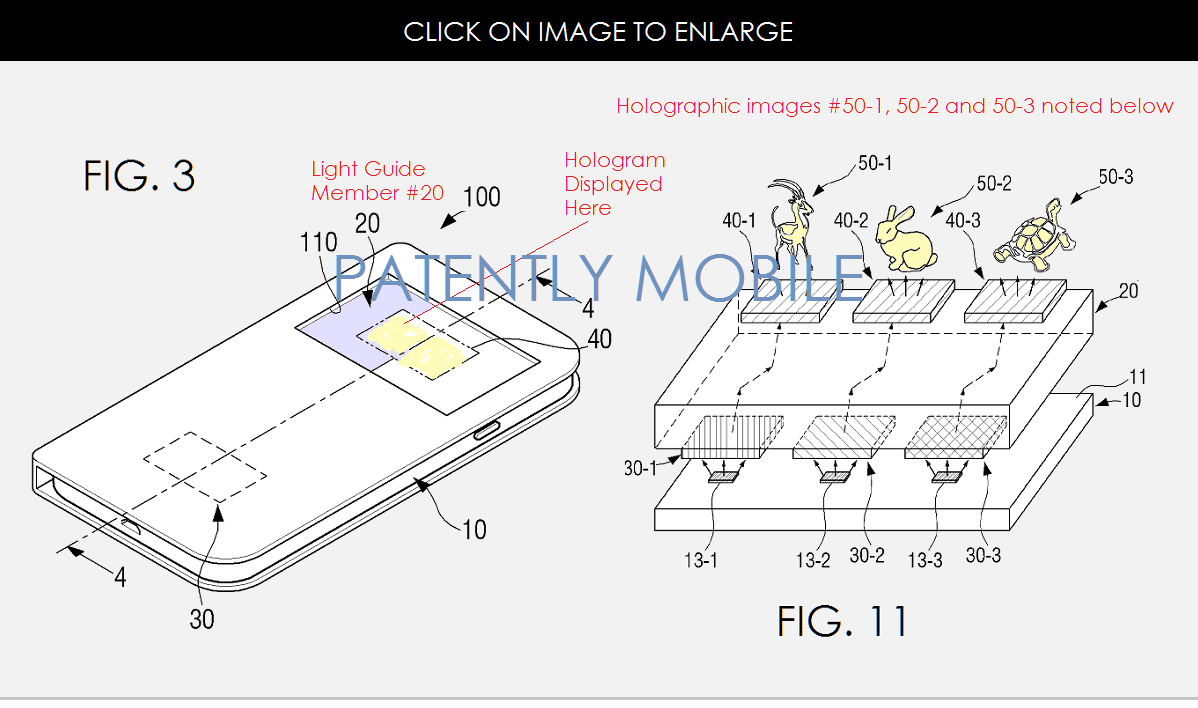 Samsung ar putea pregăti un smartphone cu un ecran holografic, conform unui nou brevet