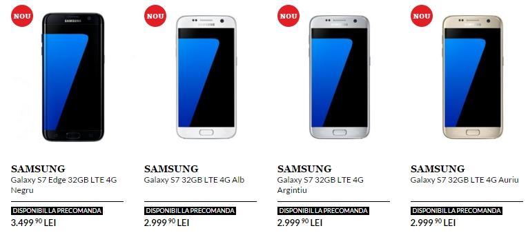 Samsung Galaxy S7 și S7 Edge acum la QuickMobile; prețurile încep de la 2.999 lei