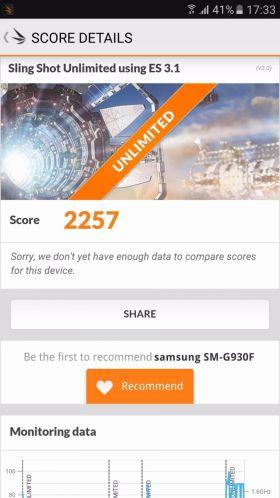 Samsung Galaxy S7 varianta Exynos, benchmark 3DMark