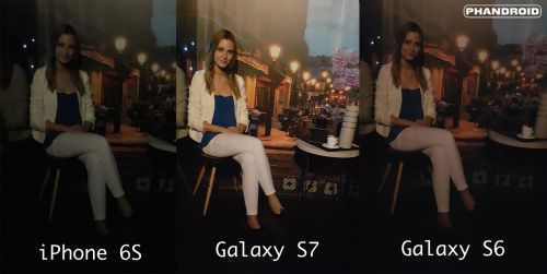 Samsung Galaxy S7 versus Galaxy S6 versus iPhone 6S, fotografii low light