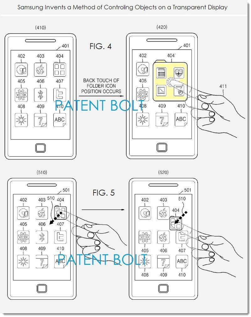 Samsung inventează controlul touchscreen pentru panoul din spate; tehnologia va sosi pe smartphone-uri cu display-uri transparente