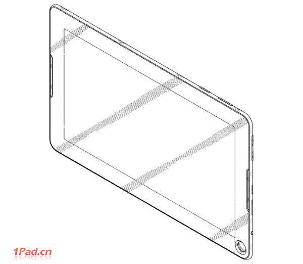 Se pregătește un nou design de tableta Samsung? Un brevet cu un orificiu În zona frontală apare pe web