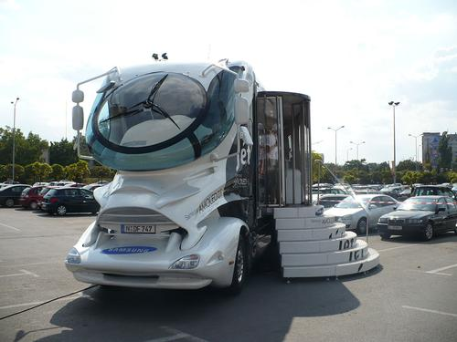 Autocarul Samsung - Caravana Samsung Mobile