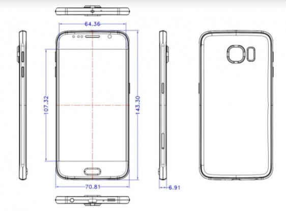 Samsung Galaxy S6 măsoară 6.91 mm În grosime, conform unor noi schițe de design apărute online
