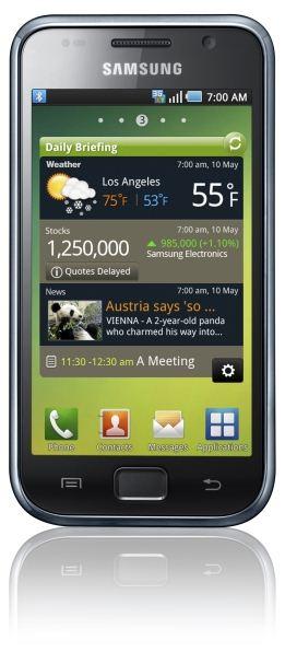 Samsung Galaxy S, handsetul cu ecran Super AMOLED de 4 inchi, acum in Romania