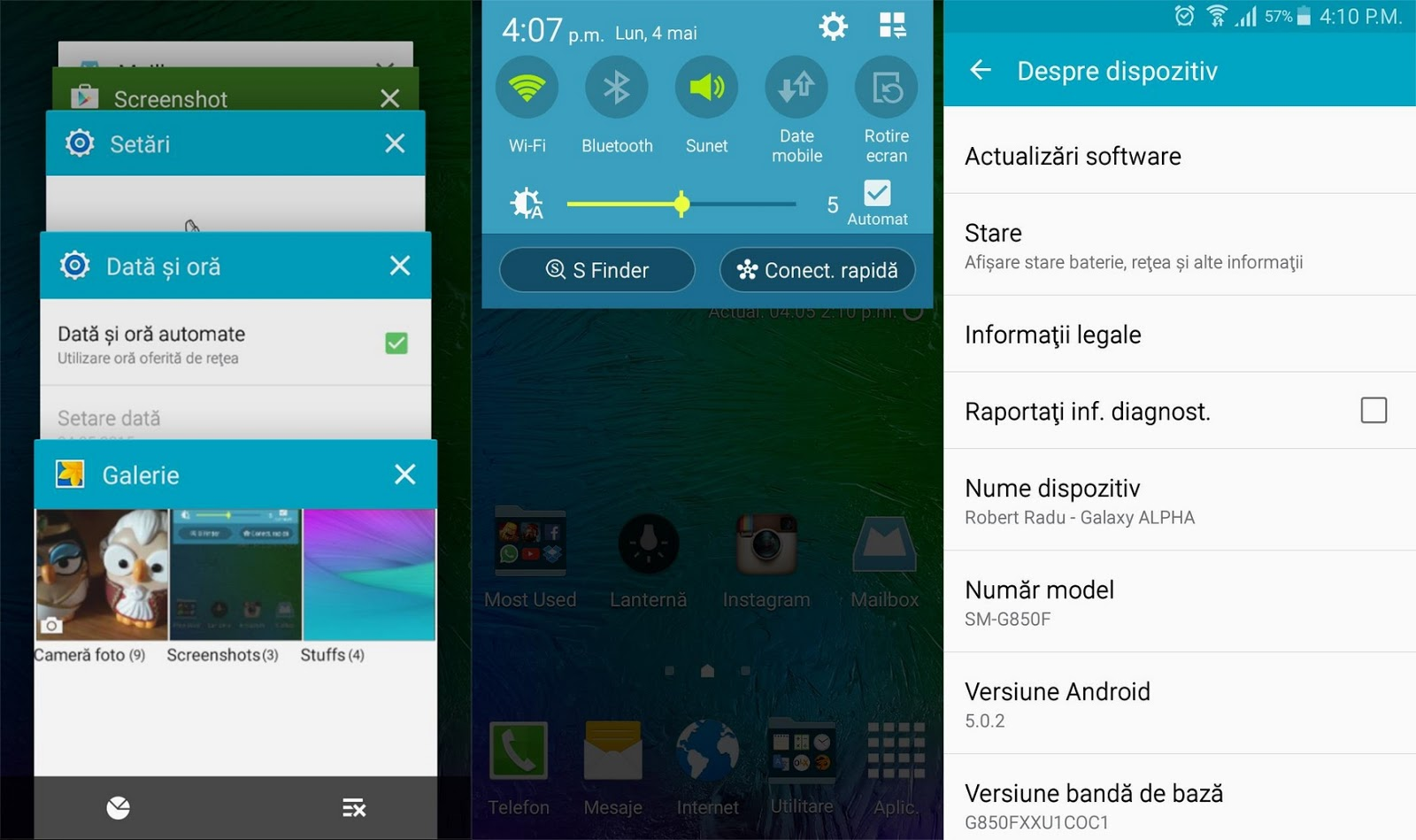 Samsung Galaxy Alpha Android 5.0 Lollipop