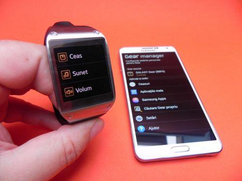 Samsung Galaxy Gear si Galaxy Note 3