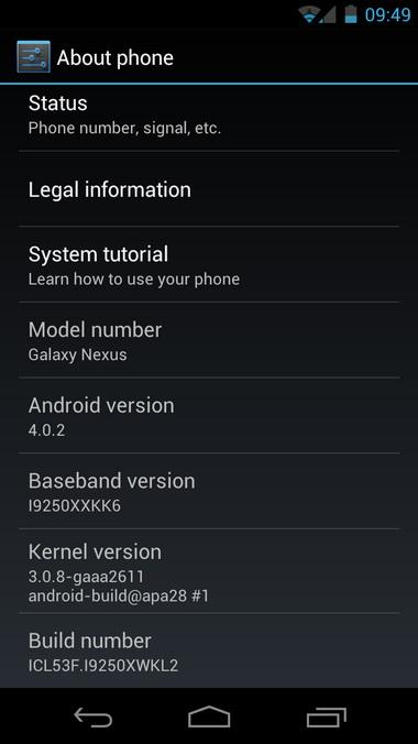 Samsung Galaxy Nexus primește actualizarea la Android 4.0.2 (OTA) În România