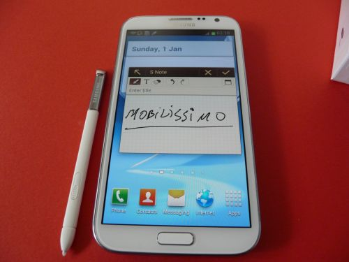 Samsung Galaxy Note II unboxing