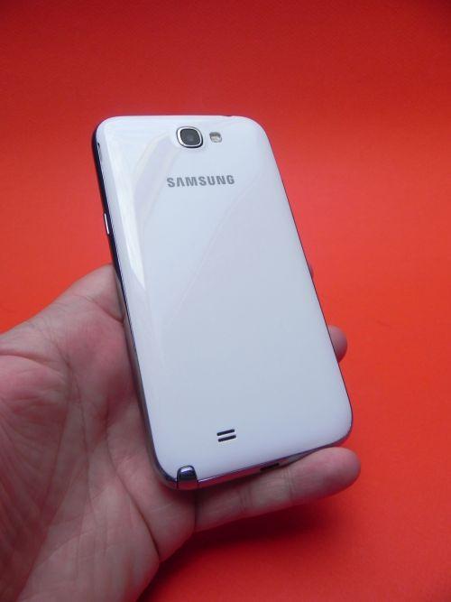 Samsung Galaxy Note II din spate