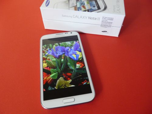 Samsung Galaxy Note II scos din cutie
