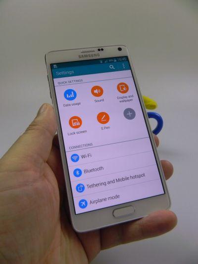 Samsung Galaxy Note 4 - Zona setari