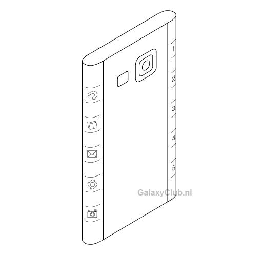 Brevet Samsung pentru telefon cu display curbat