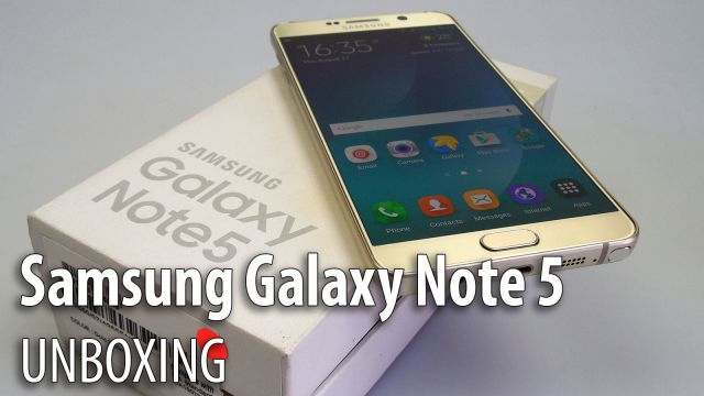 Samsung Galaxy Note 5 Unboxing: elegantul phablet cu stylus de la Samsung îşi desface sacoul (Video)