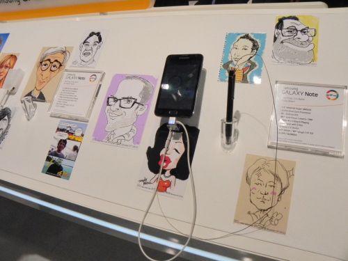 Caricaturi facute pe Galaxy Note