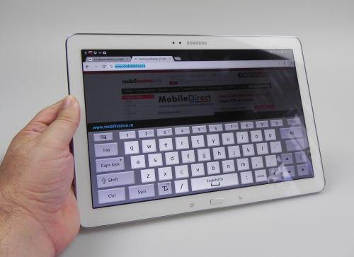 Tastatura lui Samsung Galaxy Note Pro 12.2
