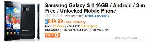 Samsung Galaxy S2 costă 547 de euro, sosește În martie În Marea Britanie, În mai În Elveția... pe când și la noi?