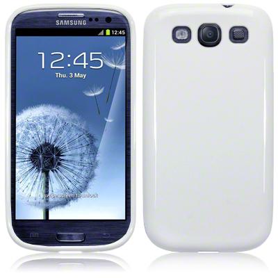 Husa Samsung Galaxy S3 I9300 - Gel TPU alba de la CUBZ