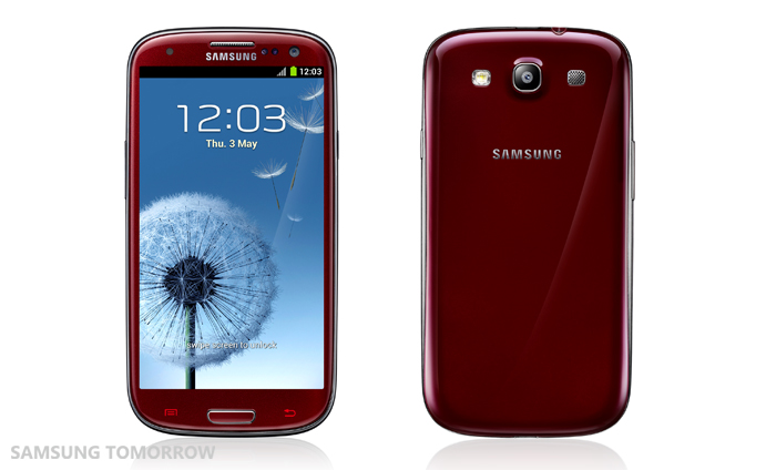 Samsung Galaxy S III rosu