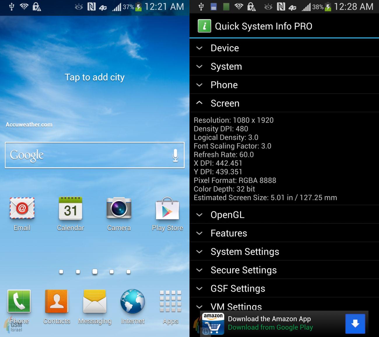 Capturi de ecran de pe Samsung Galaxy S IV confirmă scrollingul prin privire, pauză prin privire
