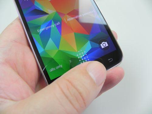 Scannerul de amprente de pe Samsung Galaxy S5