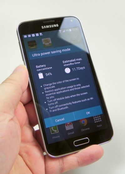 Samsung Galaxy S5 Ultra Power Saving Mode