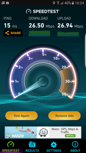 Samsung Galaxy S7 Edge speedtest